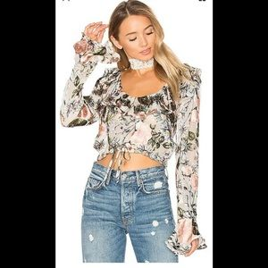 For love and lemons Luciana ruffle blouse
